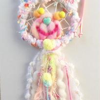 ♡くまちゃんキャッチャーネックレス♡(白カラフル)