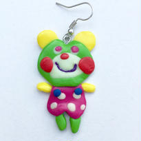 ◆くまちゃんピアス◆(黄緑❷)