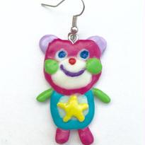 ◆くまちゃんピアス◆(ピンク)