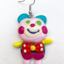 ◆くまちゃんピアス◆(薄ピンク)