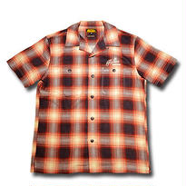 HARDEE SOUTH S/S CHECK SHIRT RED