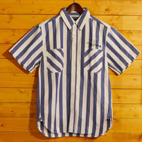 S/S STRIPE SHIRT BLUE[TP13-NSH08]