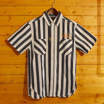 S/S STRIPE SHIRT BLACK[TP13-NSH08]