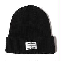 CUT RATE COTTON KNIT CAP BLACK CR-17SS010