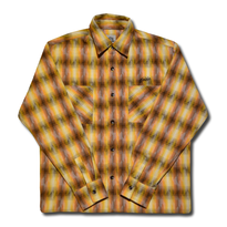 HARDEE BEARD L/S CHECK  SHIRT ORANGE