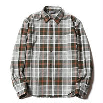 CUTRATE  L/S CHECK SHIRT GREEN CR-17SS001