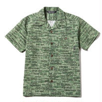 CUT RATE S/S ALLOVER PATTERN SHIRT GREEN
