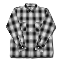 HARDEE BOWL L/S CHECK SHIRT BLACK