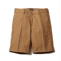 CUTRATE OLD GERMANY CLOTH CHINO SHORTS / CAMEL  CR-16ST010