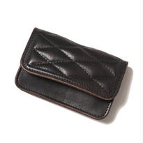CUT RATE QUILTING LEATHER SHORT WALLET
