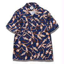 FUCT SSDD POPPY FLOWER ALOHA SHIRT NAVY  #6312