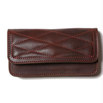 QUILTING LEATHER LONG WALLET BROWN[CR-15AW047]