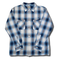 HARDEE BOWL L/S CHECK SHIRT BLUE