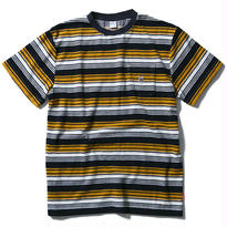 FUCT SSDD STRIPED FRENCH TERRY TEE NAVY #48603
