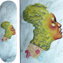 FUCKING AWESOME  NAKEL SMITH  MOTHER AFRICA DECK   (8.25 x 31.8inch)