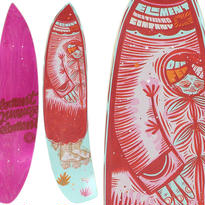 ELEMENT x THOMAS CAMPBELL WOMPUS  DER FER WALL HANGER DECK (8.1 x 32inch)