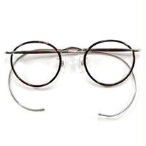 ヒムカシ眼鏡 / サンプラセル輪巻縄手眼鏡・生活の柄  ブラウン