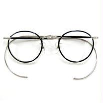 ヒムカシ眼鏡 / サンプラセル輪巻縄手眼鏡・生活の柄  ブラック 菊花模様彫金