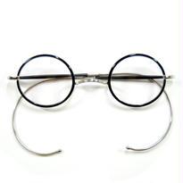 ヒムカシ眼鏡 / サンプラセル輪巻縄手眼鏡・プカプカ  ブラック