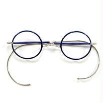 ヒムカシ眼鏡 / サンプラセル輪巻縄手眼鏡・プカプカ  インディゴ 唐草彫金
