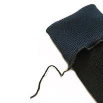 ヒムカシ靴下  / ゴム無し綿靴下 ブラック  (ブルー)    * Free size ( 23-27cm )