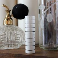 <訳あり>ドイツ製 携帯用アトマイザー ボーダー(ホワイト)【メンズ 香水 フレグランス アロマ 詰替え容器】