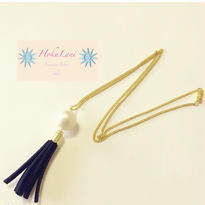 CottonPearl Tassel Longネックレス