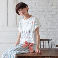 [2017SS]ドルマン台形リボンTシャツ