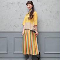 [2016AW]スカート マルチストライプ