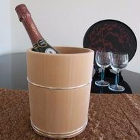 結桶 桧ワインクーラー、桶栄(東京・深川)受注品・別送品