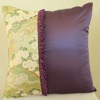 Bi's Original 、新作・金襴クッションカバー 、『翠香』紫② 45cm角用