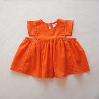 colorful pullover ( orange ) // folkmade
