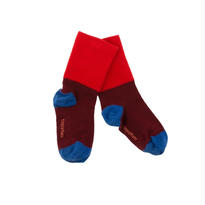 rib medium socks ( red x bordeaux ) / tinycottons
