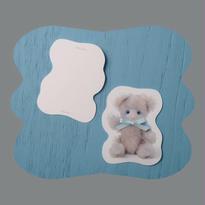 Zaza Bearポストカード/light blue
