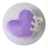 テディベアクッション/purple