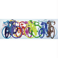 Taliah Lempert : Bike Art - Colourful Row - 29737