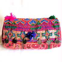 Banjara 2wayクラッチバッグ 1点物《bjc9》zariミラーワーク刺繍ヴィンテージテキスタイル