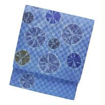 絞り名古屋帯 / ブルー