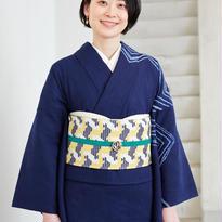 5-9きもの 縫い締め絞りナスカ 紺