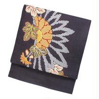 大胆な菊柄が魅力的な江戸友禅の名古屋帯