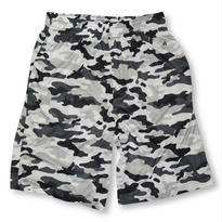 BADGER SPORT CAMO SHORT WHITE