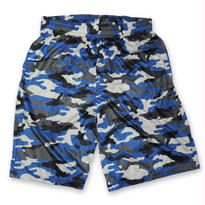BADGER SPORT CAMO SHORT BLUE