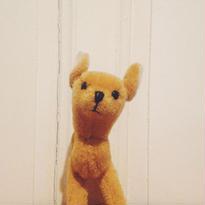 マーケットで見つけたバンビの様なワンコのぬいぐるみ
