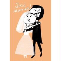 オカッパさんとおヒゲさんのポストカードセット(結婚報告バージョン)