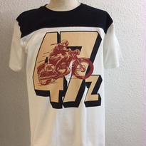 HMC 47z FOOTBALL-T WHT/RED