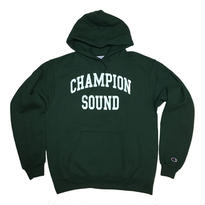 """CHAMPION SOUND"" PULLOVER HOODIE DARK GREEN"