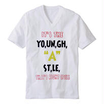 """【20%OFF】YOUNG HASTLE """"SPELL MY NAME RIGHT"""" V-NECK TEE OLYMPIC"""