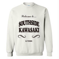 """SOUTHSIDE KAWASAKI"" CREWNECK SWEATSHIRT WHITE"