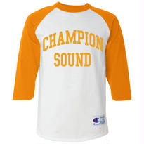 """CHAMPION SOUND"" RAGLAN BASEBALL TEE YELLOW"
