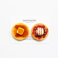 ホットケーキとパンケーキのちいさな木製マグネット/ブローチ